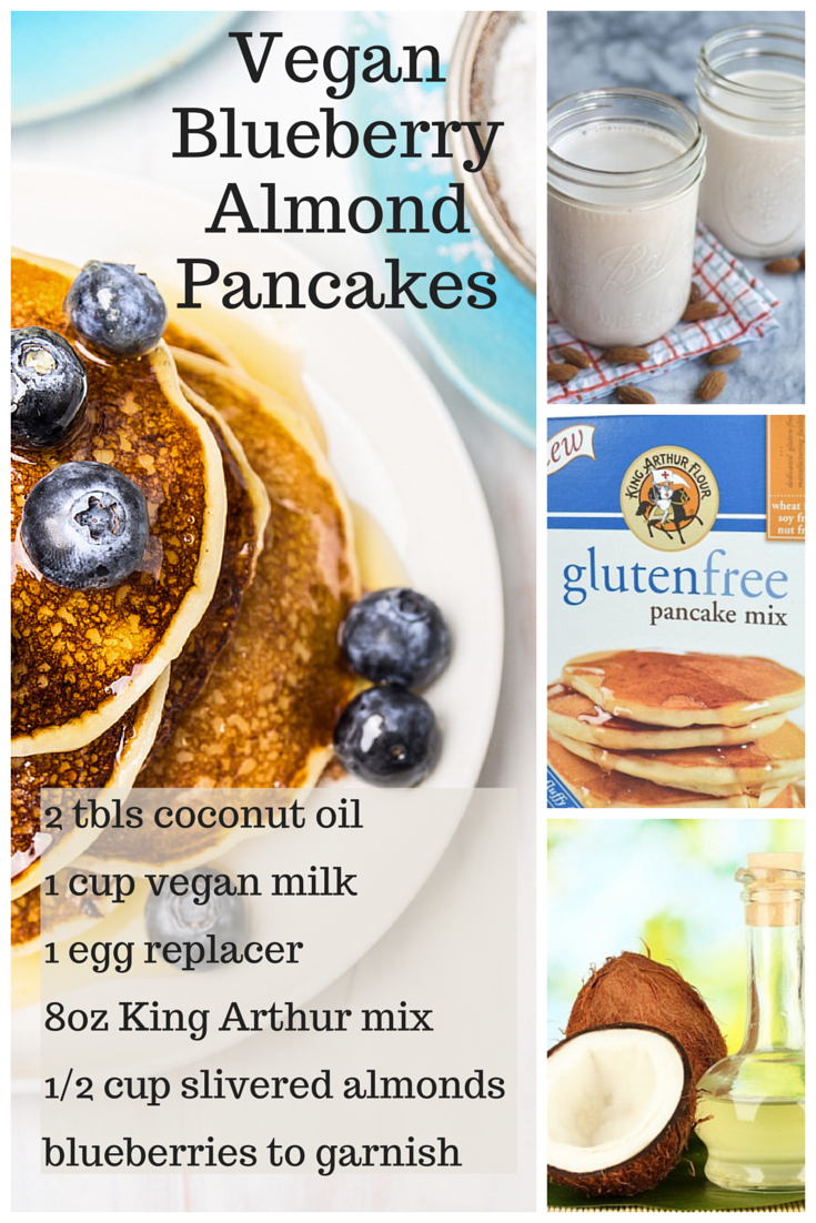 Vegan BlueberryAlmond Pancakes