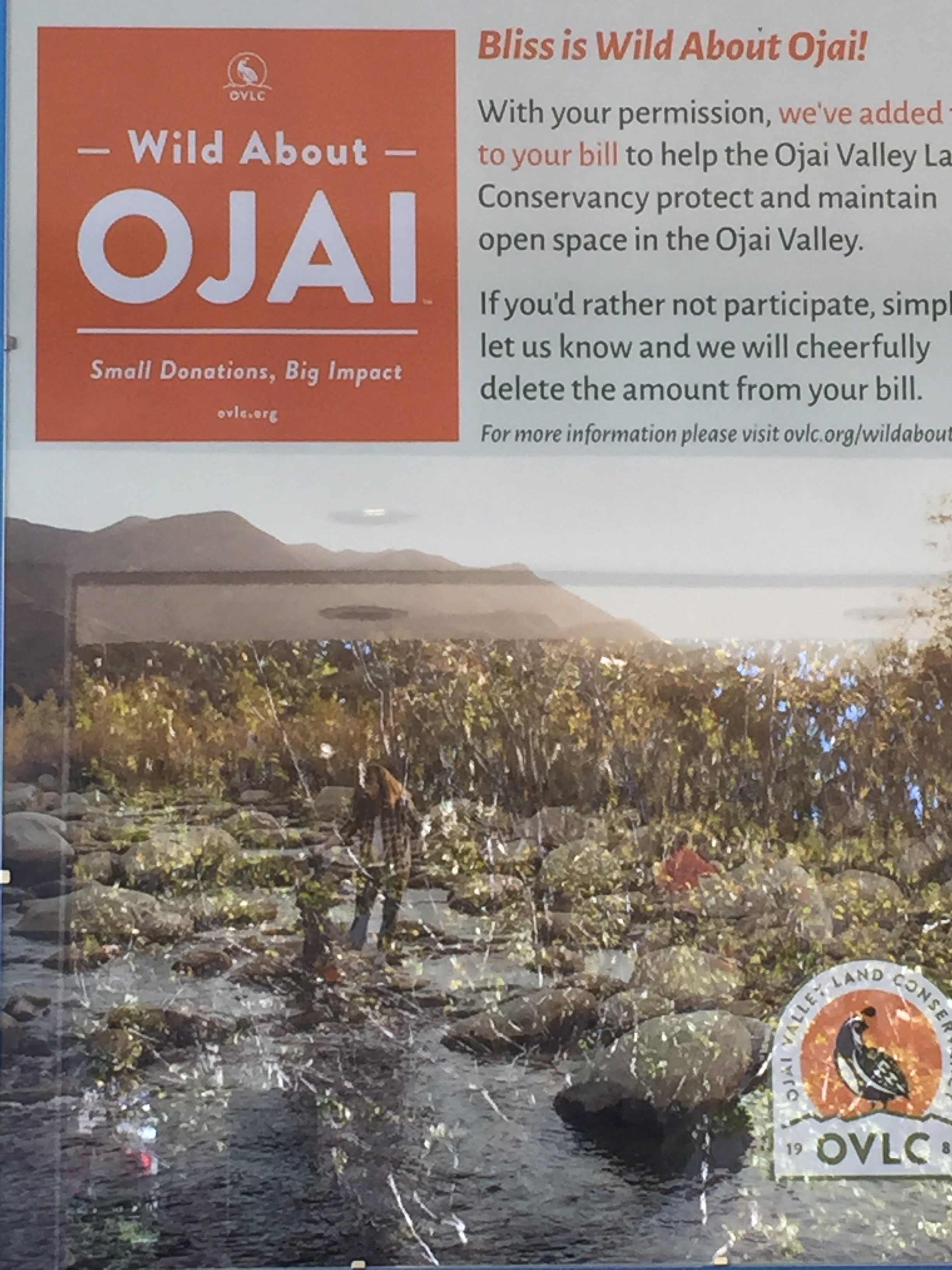 ojai donation at bliss